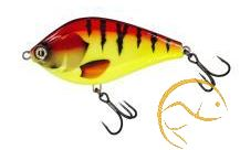 Molix Wobler Pike Jerk Floating- Red/ Yellow Tiger